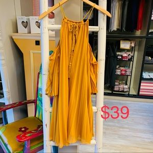 BB Dakota pleated dress mustard